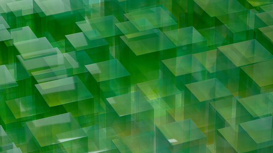 3d rendering of abstract transparent technology background. Color gradient.