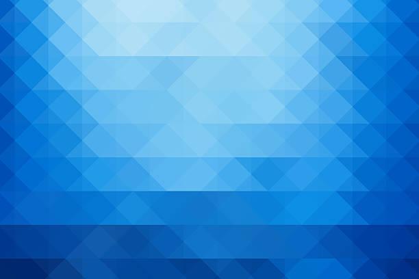 抽象的なトライアングル青色背景 ストックフォト