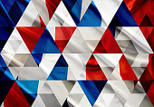 Abstract triangle mosaic background: French Flag
