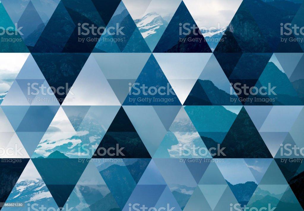 Abstrato base de mosaico triângulo: montanhas - foto de acervo