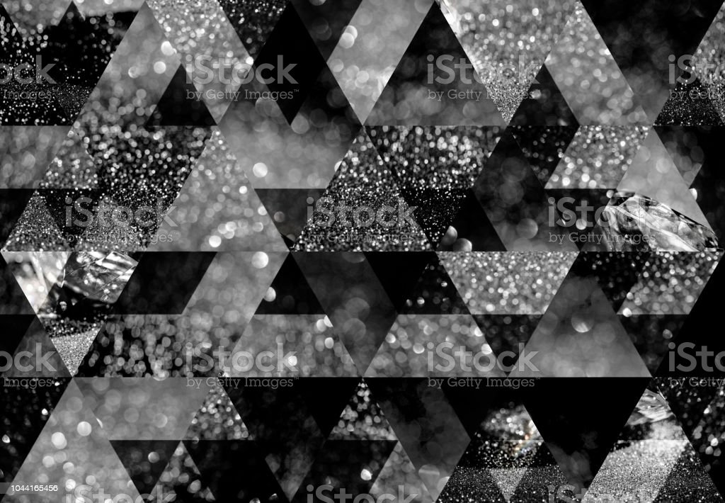 Abstract triangle mosaic background stock photo