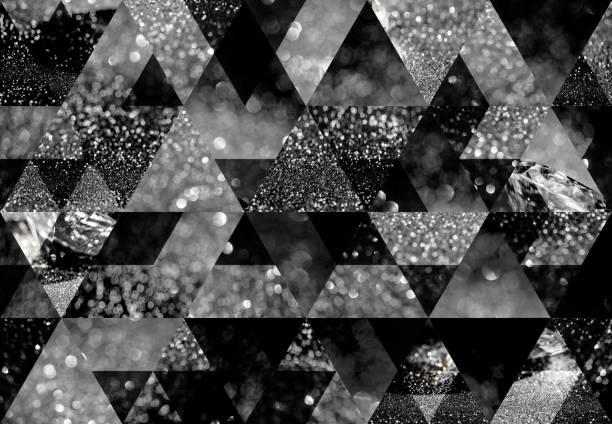 abstrakte dreieck mosaik hintergrund - diamantschmuck stock-fotos und bilder