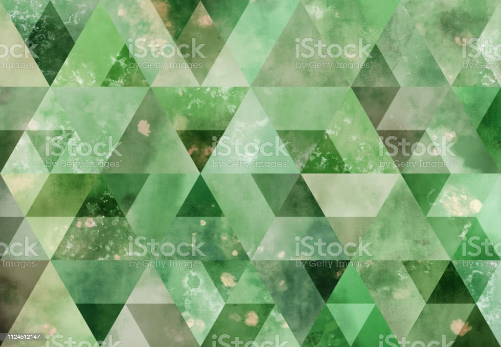 Abstract triangle mosaic background: Watercolor wall stock photo