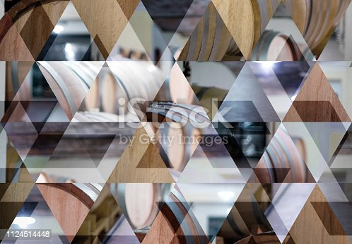 istock Abstract triangle mosaic background: Wine Cellar 1124514448