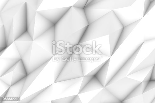 869478294 istock photo 3D Abstract Triangle Shape, Polygonal Background 985832212