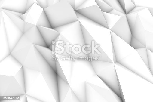 869478294 istock photo 3D Abstract Triangle Shape, Polygonal Background 985832258