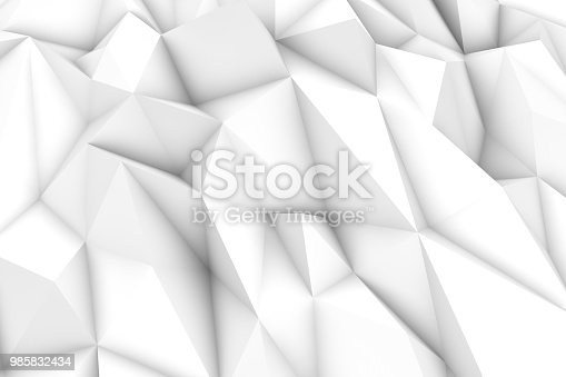 869478294 istock photo 3D Abstract Triangle Shape, Polygonal Background 985832434