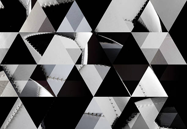 Abstract triangle shaped background: Classic football or soccer ball stock photo