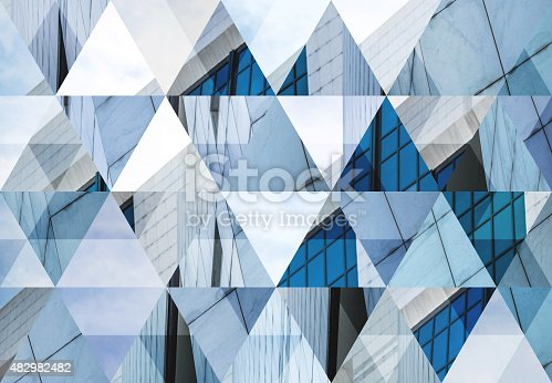 istock Abstract triangle shaped background: Modern architecture in Milan 482982482