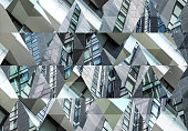 Abstract triangle shaped background: Modern architecture in Milan