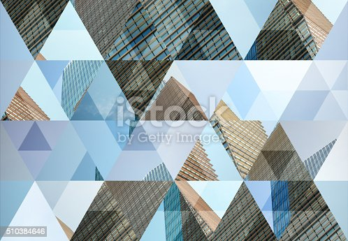 istock Abstract triangle shaped background: Modern architecture in Milan 510384646