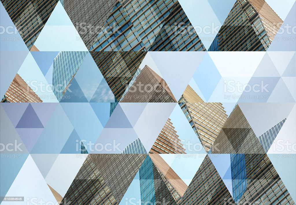 Abstract triangle shaped background: Modern architecture in Milan​​​ foto