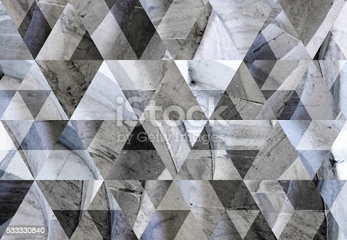 Abstract triangle shaped background: round stair steps