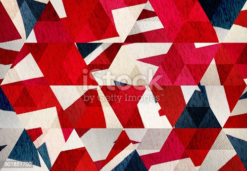 istock Abstract triangle shaped background: United Kingdom flag close up 501851702