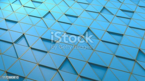 926309126istockphoto 3D Abstract Triangle Surface Background 1172880810