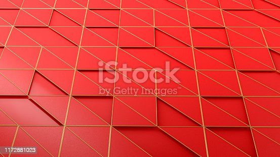 istock 3D Abstract Triangle Surface Background 1172881023