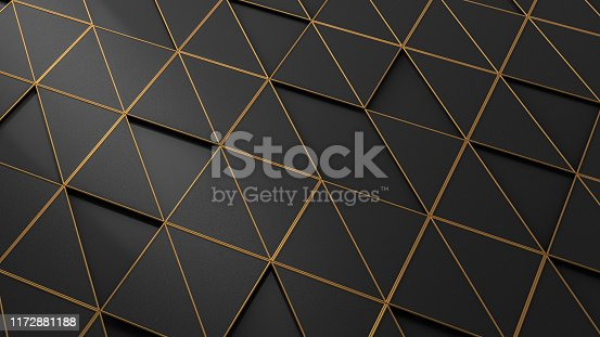 istock 3D Abstract Triangle Surface Background 1172881188