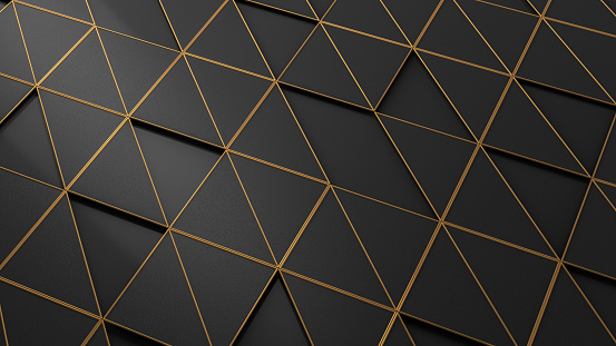 3d rendering of abstract triangle surface background.