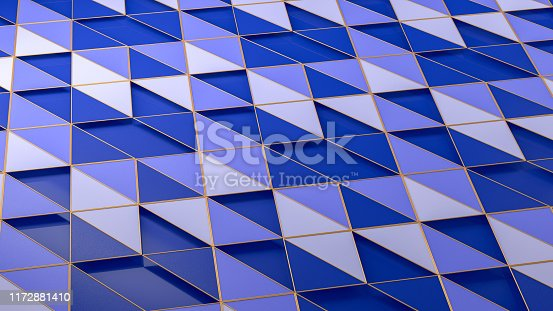926309126istockphoto 3D Abstract Triangle Surface Background 1172881410