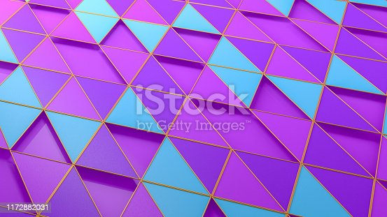 926309126istockphoto 3D Abstract Triangle Surface Background 1172882031