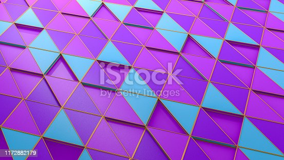 926309126istockphoto 3D Abstract Triangle Surface Background 1172882179