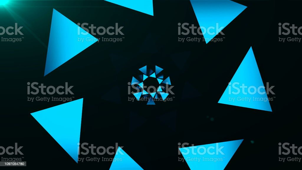 Abstract Triangles Background And Ray Of Light In The Dark