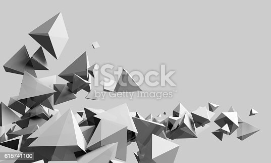 istock Abstract triangles background 615741100