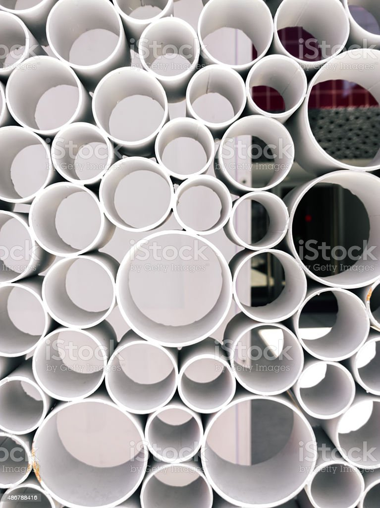 Abstract tube-view form stock photo