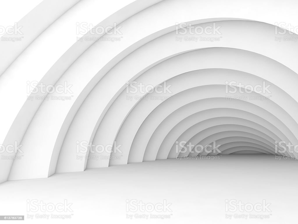 Abstract tunnel interior background 3d stock photo