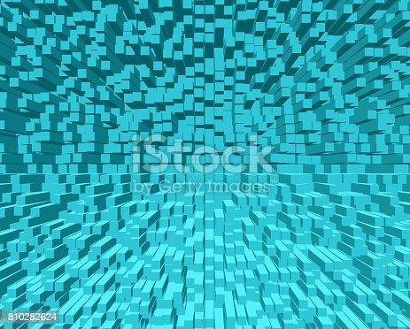 istock Abstract Turquoise blocks. 810282624