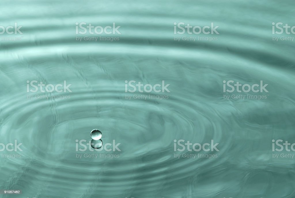 Abstract turquoise water royalty-free stock photo