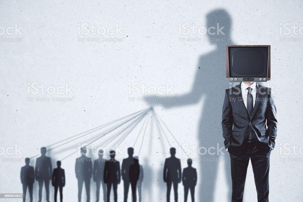 Abstrakte TV Gehirnwäsche Hintergrund – Foto