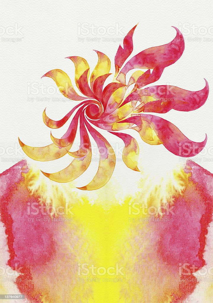 Abstract twist watercolors royalty-free stock photo