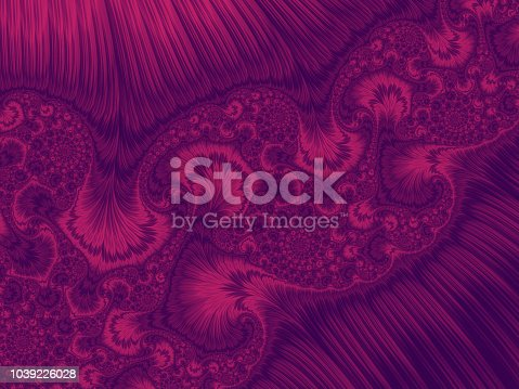 istock Abstract Ultra Violet Pink Peacock Ultra Violet Feather Swirl Gradient Ornate Pattern Trendy Colors of Year 2018 - 2019 1039226028