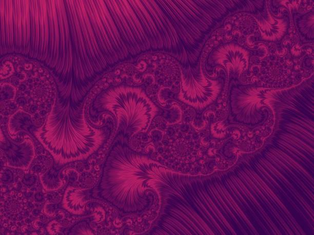 abstrakte ultra violet rosa pfau ultra violet feder wirbel gradient kunstvollen muster trendfarben des jahres 2018-2019 - pfau bilder stock-fotos und bilder