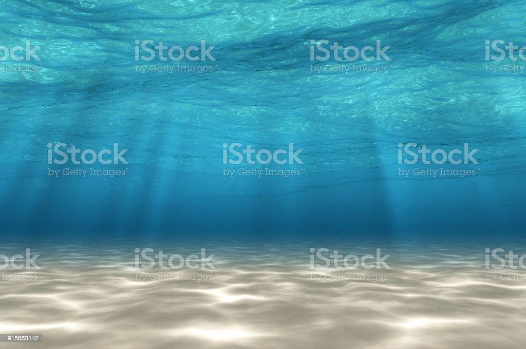 Résumé sous le fond de la mer. photo libre de droits