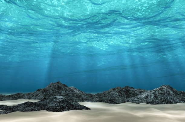 Résumé sous le sable de mer fond, blanc et en pierre avec rayon de soleil pour votre conception. - Photo