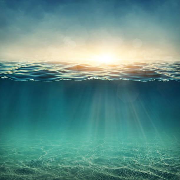 abstract underwater background - ocean under water stockfoto's en -beelden