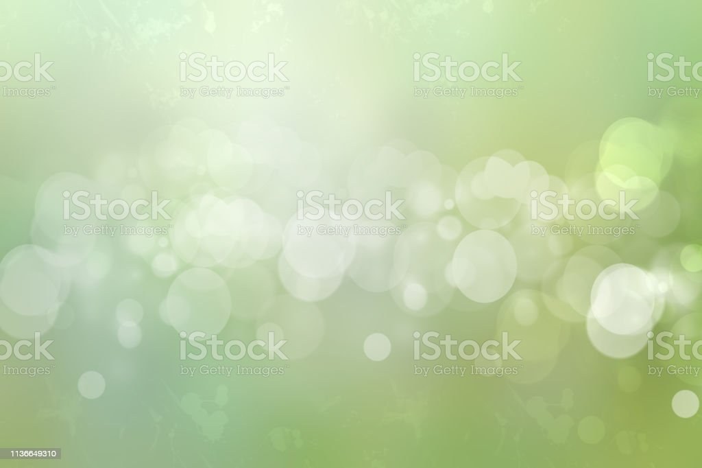 Abstract underwater illustration. Abstract light green white bokeh...