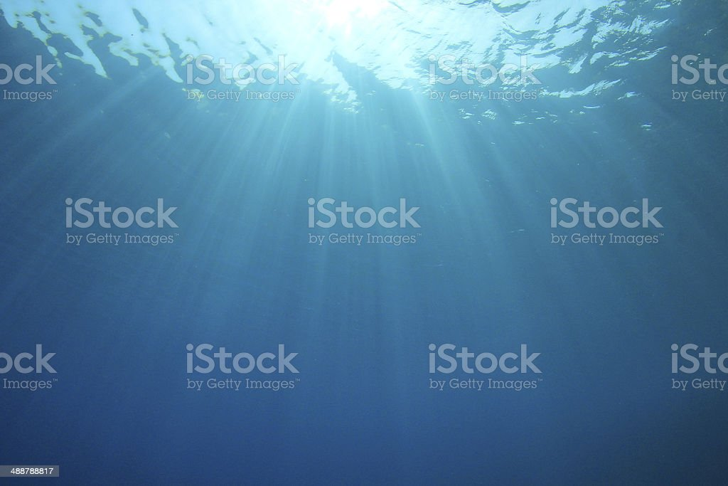 Abstract Underwater Ocean Background stock photo