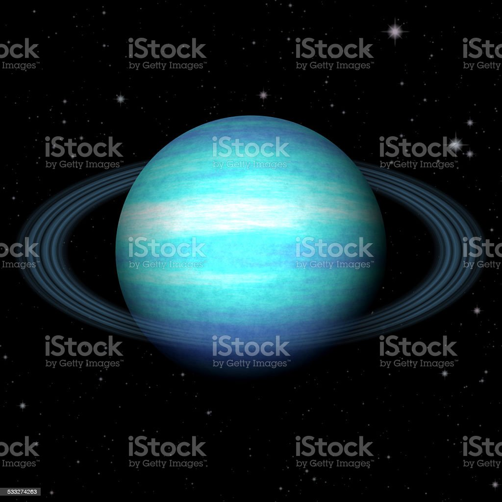 Abstract Uranus planet generated texture background stock photo