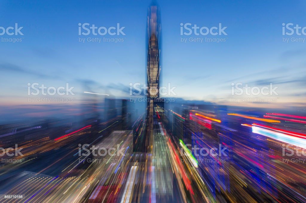 Abstract urban architectural complex stock photo