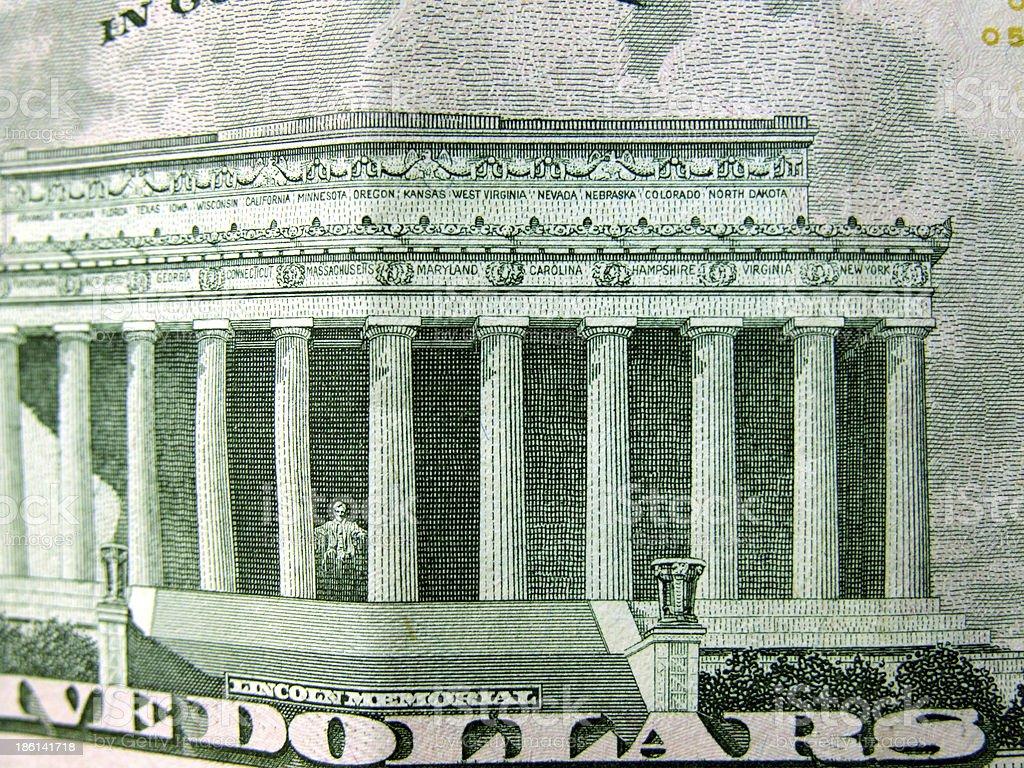 Abstract Us Dollar royalty-free stock photo