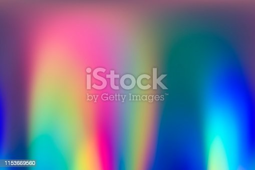 istock Abstract vaporwave holographic background image of spectrum colors 1153669560