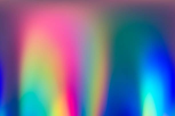 スペクトル色の抽象 vaporwave ホログラフィック背景画像 - ホログラム ストックフォトと画像