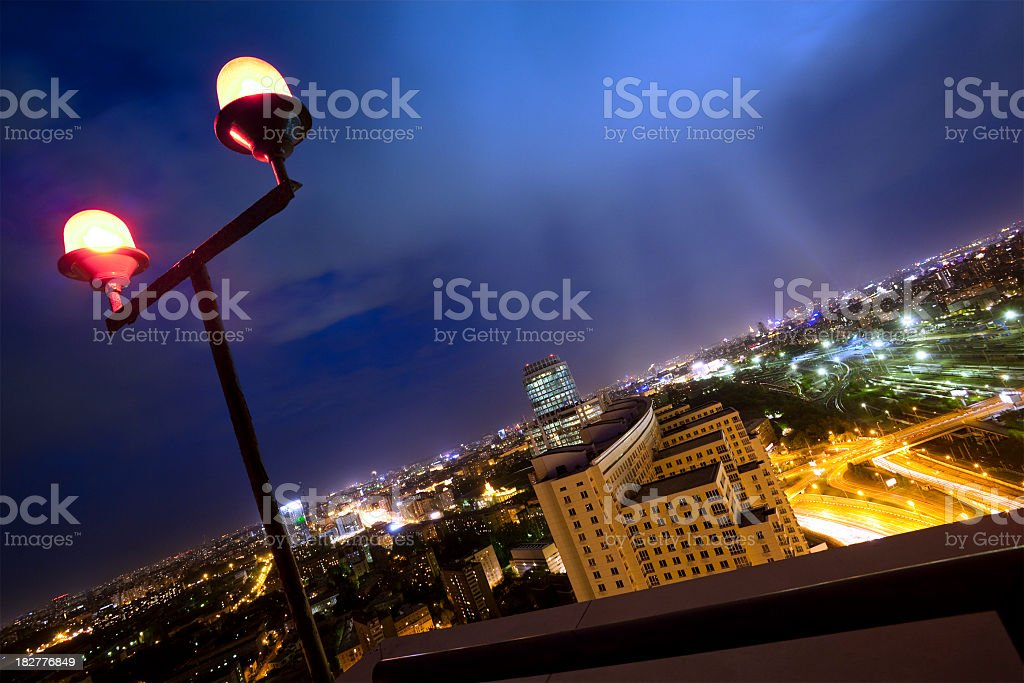 Abstract view from the top of skyscraper royalty-free stock photo