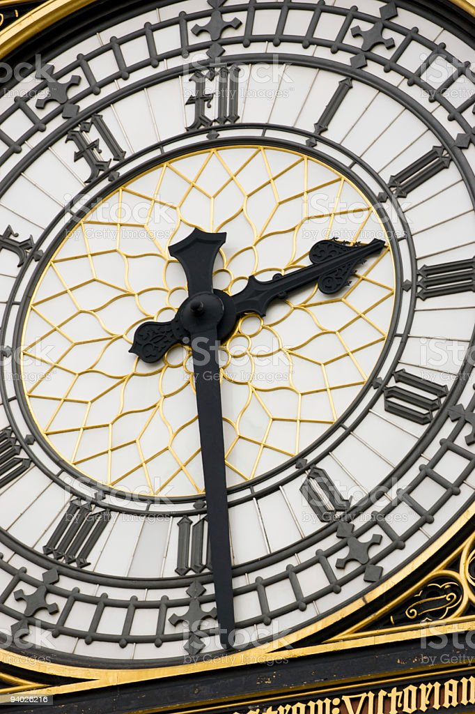 Abstract view of Big Ben royalty-free stock photo