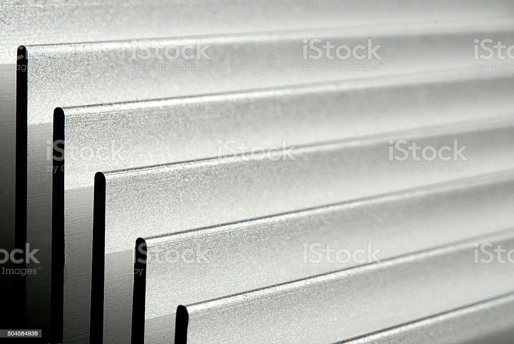 Abstract View of CPU Heat Sink stock photo