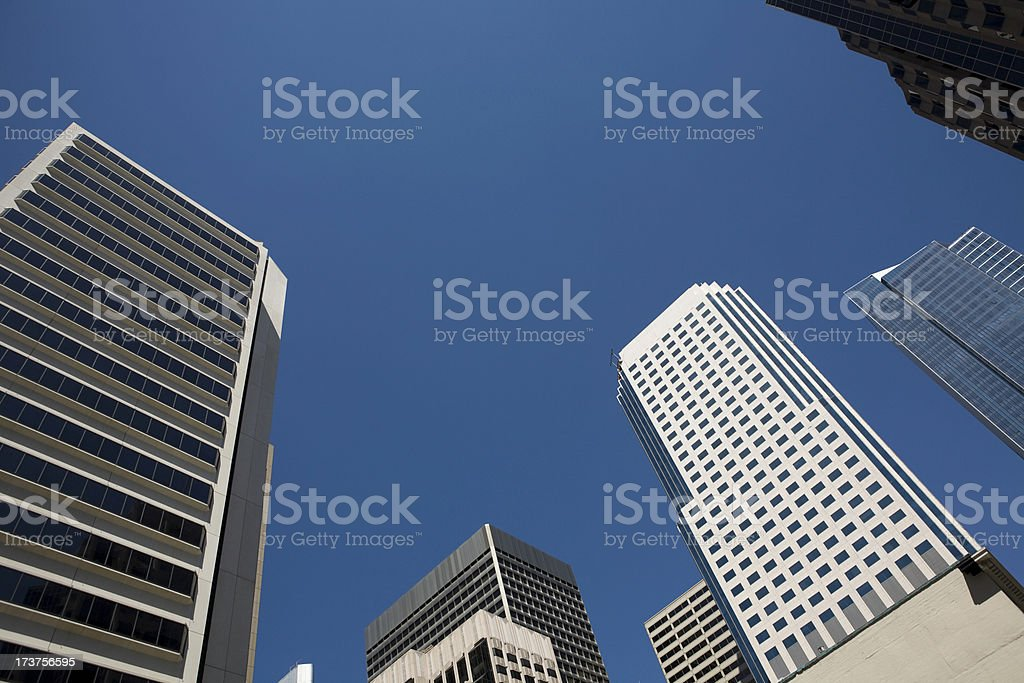 Abstract View of Downtown San Francisco royalty-free stock photo