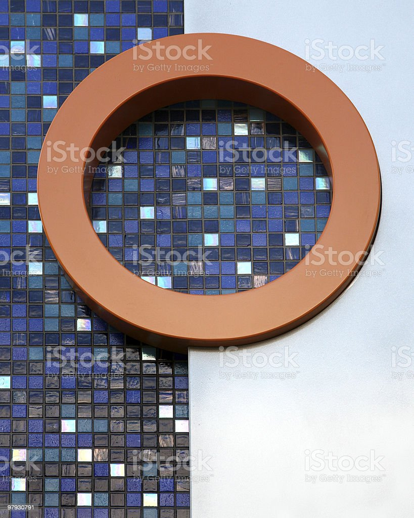 Abstract view of mosaic tiles and circle royalty-free stock photo